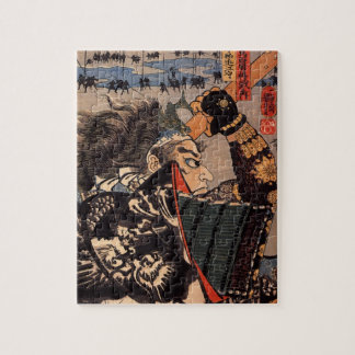 Samurai with Beautiful Dragon Armor Jigsaw Puzzle