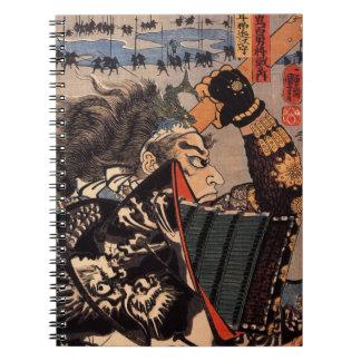 Samurai with Beautiful Dragon Armor Notebooks