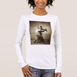 Samurai with raised sword, c.1860 (albumen print) long sleeve T-Shirt