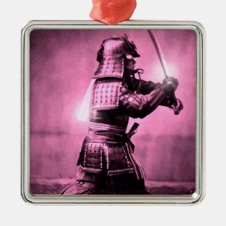 Samurai With Sword Christmas Ornament