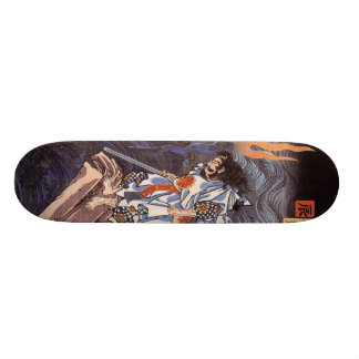 Samurai with Sword Skateboard