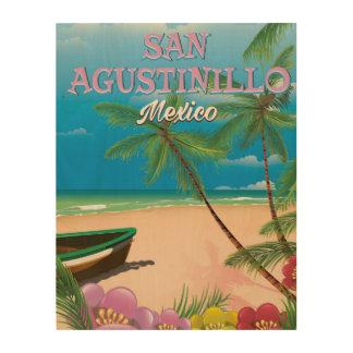 San Agustinillo Mexico Beach poster