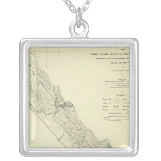 San Andreas Rift near Fort Ross Silver Plated Necklace