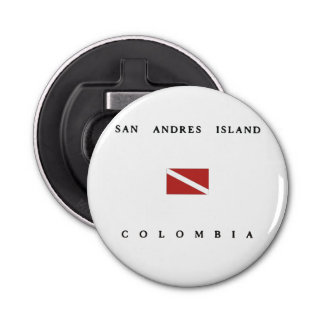 San Andres Island Colombia Scuba Dive Flag Bottle Opener