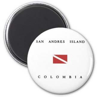 San Andres Island Colombia Scuba Dive Flag Magnet