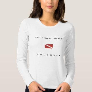 San Andres Island Colombia Scuba Dive Flag Shirt