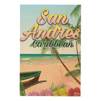 San Andrés island travel poster
