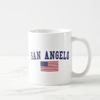 San Angelo US Flag Basic White Mug