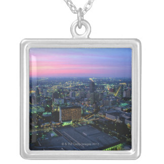 San Antonio at Dusk Silver Plated Necklace