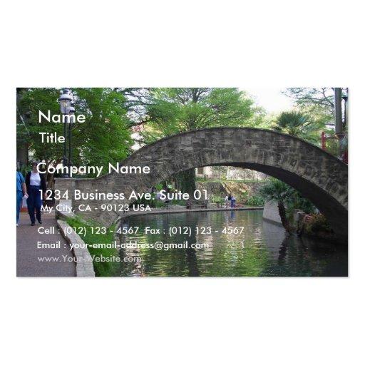 San antonio bridges riverwalk business cards zazzle for Business cards in san antonio