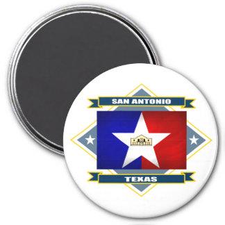 San Antonio Diamond 7.5 Cm Round Magnet