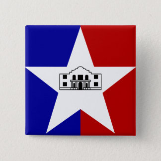 San Antonio Flag 15 Cm Square Badge
