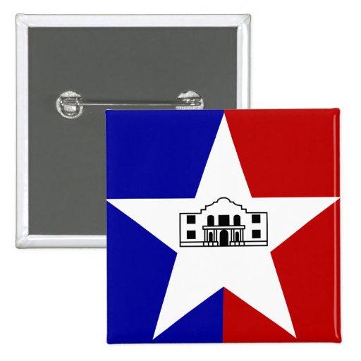 San Antonio Flag Button