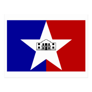 San Antonio Flag Postcard