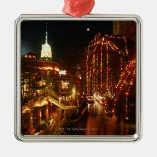 San Antonio Riverwalk at Night Christmas Ornament