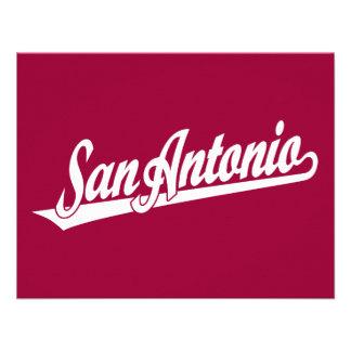 San Antonio script logo in white Personalized Announcement