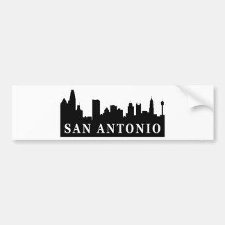 San Antonio Skyline Car Bumper Sticker