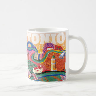 San Antonio Soundscape - an homage to Hockney Coffee Mug