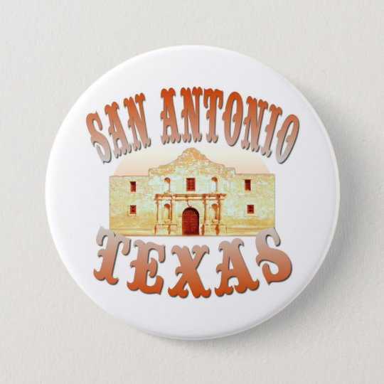 San Antonio Texas 7.5 Cm Round Badge