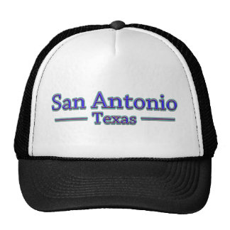 San Antonio Texas in Blue & Red Hats