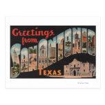 San Antonio, Texas - Large Letter Scenes Postcard