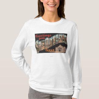 San Antonio, Texas - Large Letter Scenes T-Shirt
