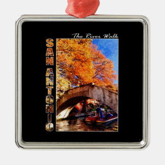 San Antonio, Texas:  River Walk Bridge Christmas Ornament