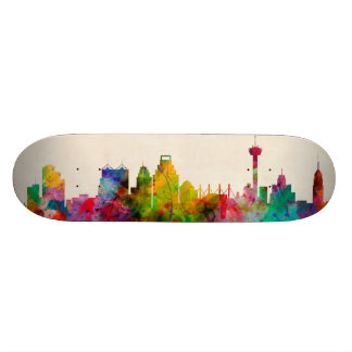 San Antonio Texas Skyline Cityscape Skateboards