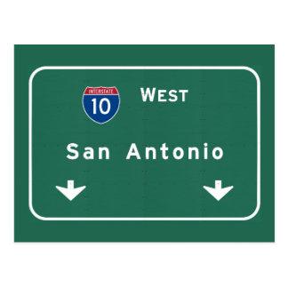San Antonio Texas tx Interstate Highway Freeway : Postcard