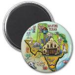 San Antonio TX 6 Cm Round Magnet