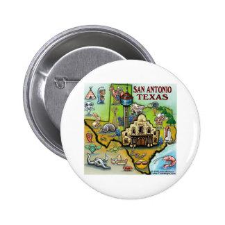 San Antonio TX 6 Cm Round Badge