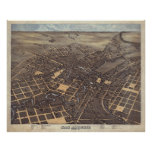 San Antonio TX Bird's Eye Panoramic Map 1873 Posters