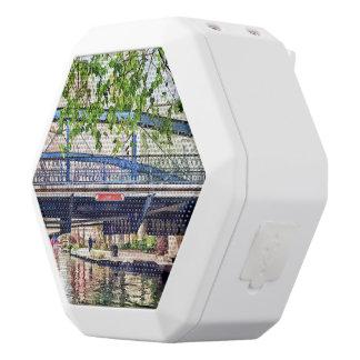 San Antonio TX - Bridge on Paseo Del Rio White Boombot Rex Bluetooth Speaker
