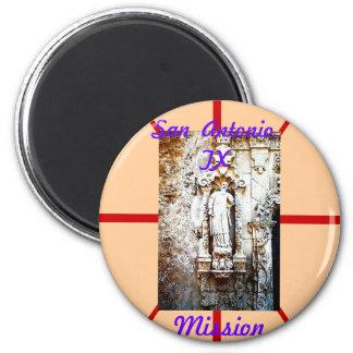 San Antonio,  TX    Mission 6 Cm Round Magnet