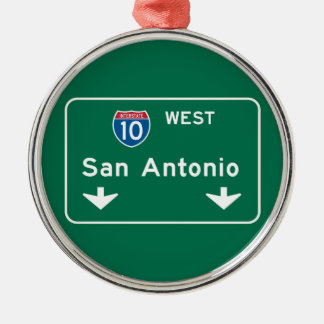San Antonio, TX Road Sign Christmas Ornament