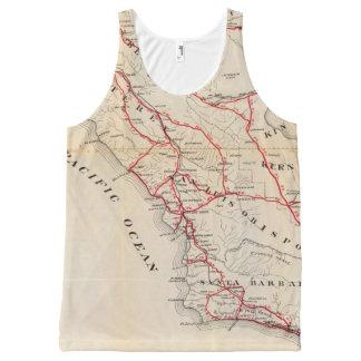 San Benito, Fresno, Monterey, San Luis Obispo All-Over Print Tank Top