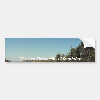 San Bernardino Mountains Bumper Sticker
