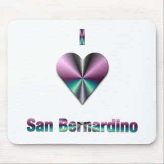 San Bernardino -- Purple Turquoise Mousepads