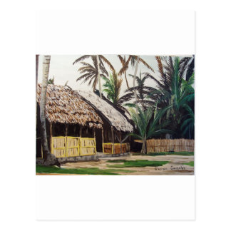 San Blas Islands, Panama WaterColor Postcard