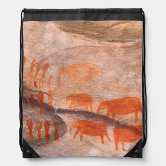 San, Bushman Rock Art, Cederberg Wilderness Drawstring Bag