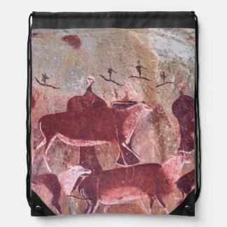 San, Bushman Rock Art, Ukhahlamba / Drakensberg Drawstring Bag