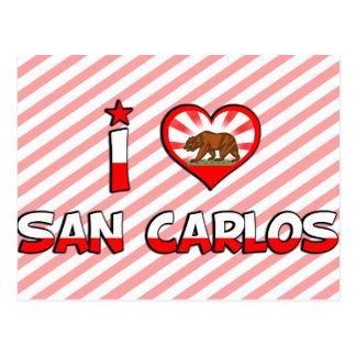 San Carlos, CA Postcard