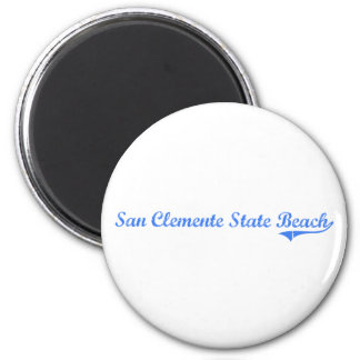 San Clemente State Beach California Classic Design 6 Cm Round Magnet
