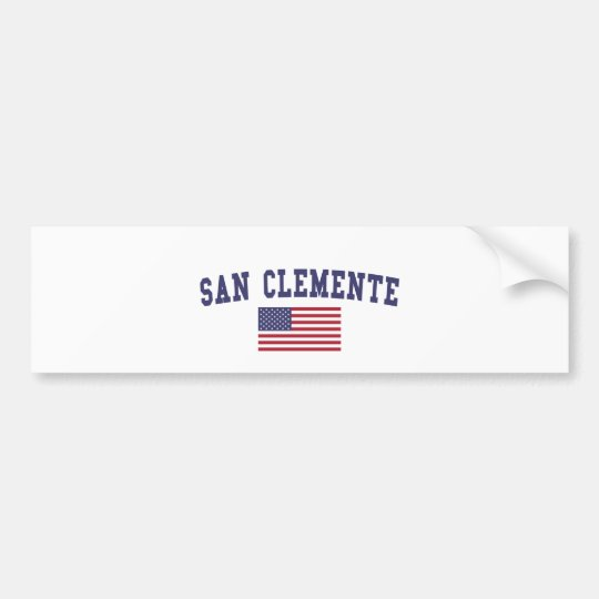 San Clemente US Flag Bumper Sticker