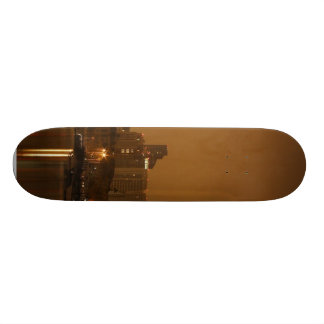 San Diego At Night From Across The Bay Skateboard Deck