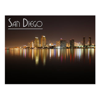 San Diego At Night Postcard