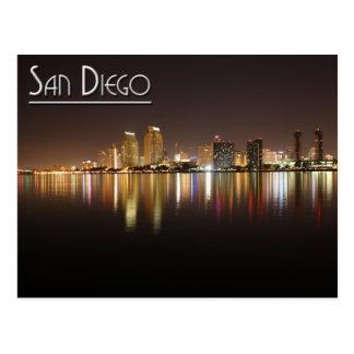 San Diego At Night Postcard