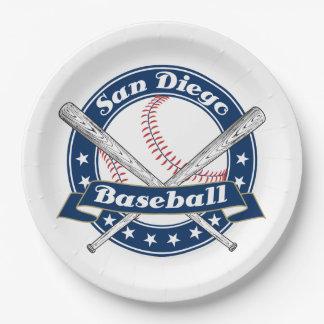San Diego Baseball Logo 9 Inch Paper Plate