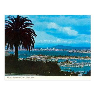 San Diego Bay from Loma Linda vintage Postcard