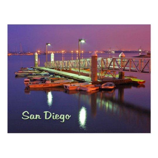 San Diego Bay Pier Postcard